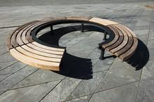 Wooden Modern Design Round Circular Park Bench
