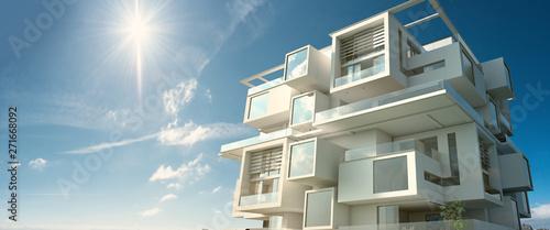 Fototapeta Modern module apartment  block obraz