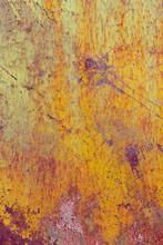 Detail Of Rusty Metal And Peel...