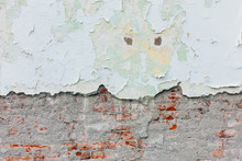 Peeling Paint And Exposed Old ...