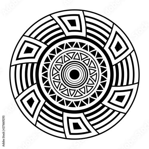 Abstract circular ornament Canvas Print