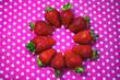 Leinwandbild Motiv Ripe and juicy strawberries. Background .
