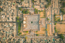 Aerial View Of Prayer During E...