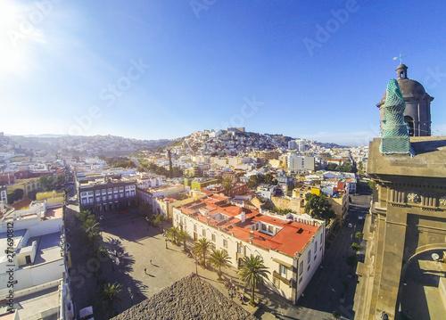Panoramic view of Las Palmas de Gran Canaria city, Canary, Spain