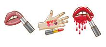 Lipstick Vector Graphic Design