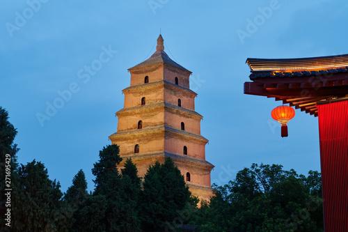 Fotografie, Obraz  Xian Da-yan pagoda of China.