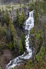 Scenic Undine Falls In Yellowstone.