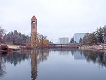 Spokane River Downtown Park Cl...
