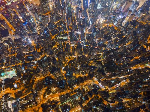 Fotomural Aerial view of Hong Kong Downtown, Republic of China