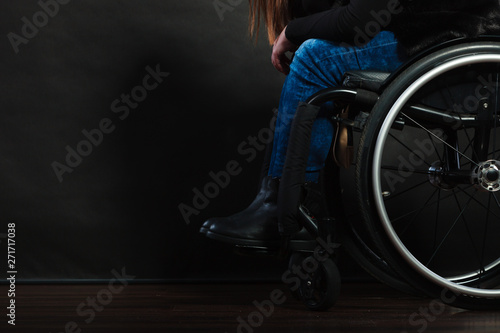Fotografie, Obraz  Legs of disabled person.