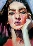 Obraz kobiety w stylu nowoczesnej sztuki - 271722425