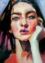 Dipinto Di Donna In Stile Arte Moderna