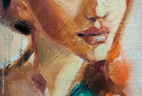 Photo Dipinto astratto di donna
