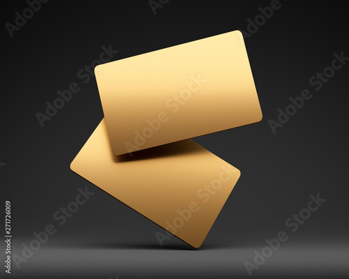 2 Leere Goldene Visitenkarten Kaufen Sie Diese