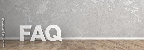 FAQ Überschrift für Homepage Poster Mural XXL