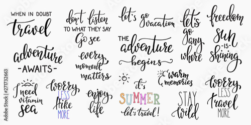 Fotomural  Travel life inspiration quotes lettering