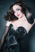 Portrait Of A Woman, Cabaret And Glamor, With Marlène Dietrich Style,