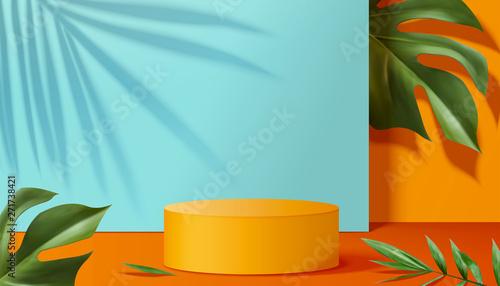 Obraz Orange podium stage - fototapety do salonu