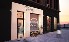 Bakery Shop Storefront Mockup