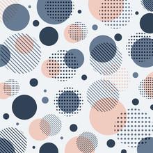 Abstract Modern Blue, Pink Dot...