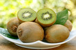 Kiwifruits in natural background.