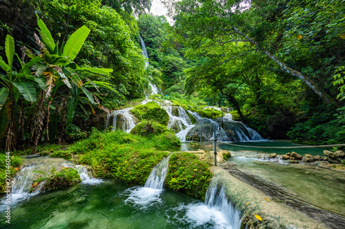 Obraz Mele Maat Cascades in Port Vila, Efate Island, Vanuatu, South Pacific - fototapety do salonu