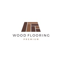 Wood Parquet Flooring Vinyl Hardwood Granite Tile Logo Vector Icon Illustration