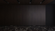 Dark Wooden Strip Wall And Cei...
