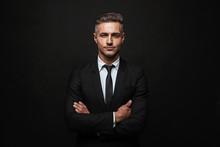 Handsome Confident Businessman Wearing Suit