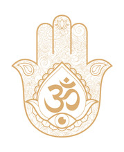 Indian Hand Hamsa Or Hand Of F...