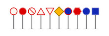 Set Of Blank Road Signs Vector