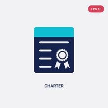 Two Color Charter Vector Icon ...