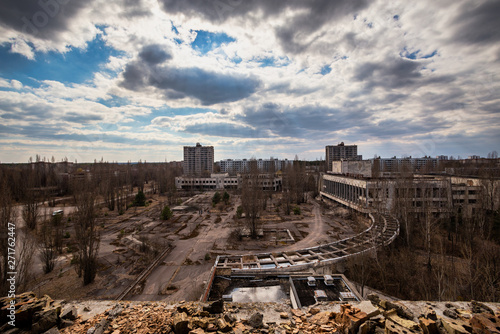 Fotografie, Obraz  Cityscape of Chernobyl, Ukraine
