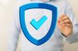 Leinwandbild Motiv security data code digital concept