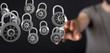 Leinwandbild Motiv security data code digital in hand