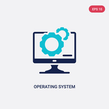 Two Color Operating System Vec...
