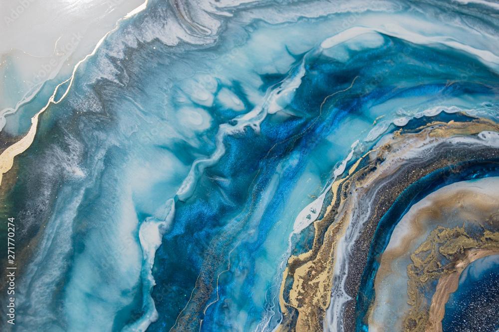 Fototapeta resin geode abstract art