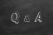 """Hand Drawing Text """"Q & A"""" On B..."""