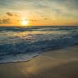Leinwandbild Motiv Colorful dawn over the sea