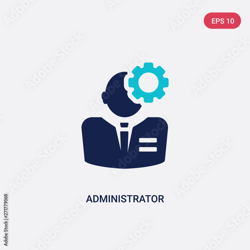 two color administrator vector icon from human resources concept Fototapeta