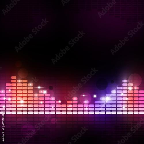 Fotobehang Fractal waves music equalizer party poster