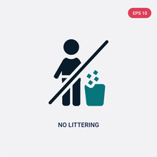 Two Color No Littering Vector ...