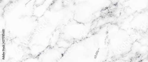 Obraz Luxury of white marble texture and background for decorative design pattern art work. Marble with high resolution - fototapety do salonu