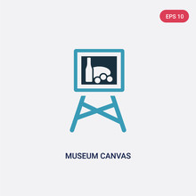 Two Color Museum Canvas Vector...