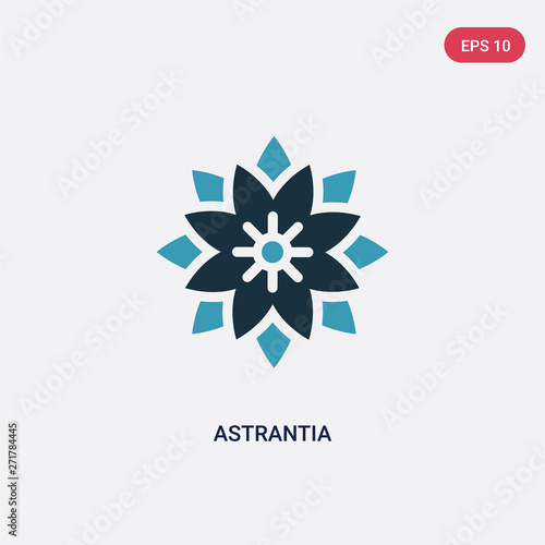two color astrantia vector icon from nature concept Canvas Print