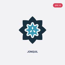 Two Color Jonquil Vector Icon ...