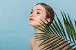 Leinwandbild Motiv Beauty portrait of an attractive young topless woman