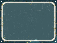 Vintage Rusty Metal Sign - Retro Tin Blank Background With Grunge Texture