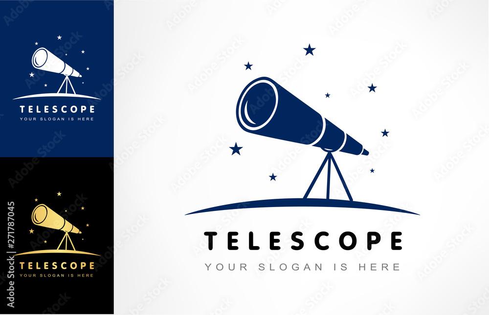 Fototapety, obrazy: Telescope logo vector
