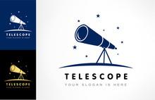 Telescope Logo Vector